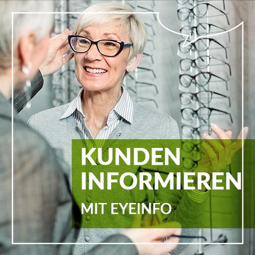 Gleitsichtkundin wird von Optikerin beraten